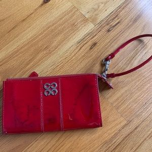 red COACH hand wallet